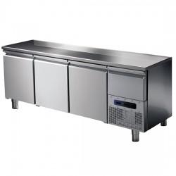 Kühltisch Edelstahl 3 Türen 187 x 70 cm