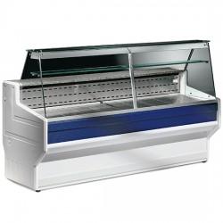 Kühltheke mit flachem Glas 200 cm