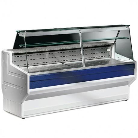 BGB0003 Kühltheke mit flachem Glas 200 cm