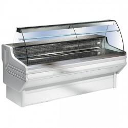 Kühlvitriene mit Rundglas Aufsatz 250 cm