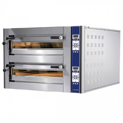 CAB0025_CD Doppelkammer Pizzaofen Digital je Kammer 4 35 cm Pizza gesamt 8 Cuppone Donatello CD DN435 2CD