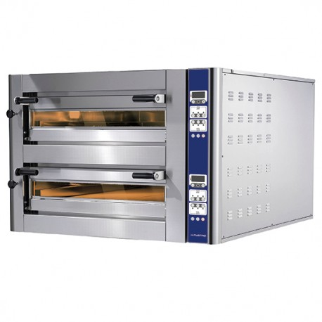 CAB0014_CD Doppelkammer Pizzaofen Digital je Kammer 6 35 cm Pizza gesamt 8 Cuppone Donatello CD DN635L 2CD Queer Queereinschub