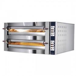 Doppelkammer mit Ein- Aus Timer 1235DG Queereinschub Pizzaofen Digital je Kammer 6 35 cm Pizza gesamt 12