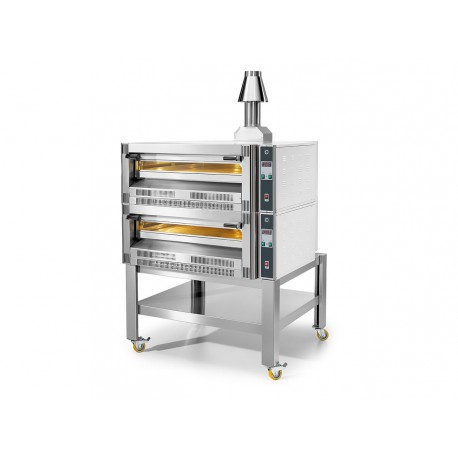 2x CAA0004 Gaspizzaofen Doppelt Zweikammer Doppelkammer 9 30 cm Pizza max 18 33 cm je Kammer Cuppone Gas GS933 2D